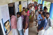 The countdown for the counting of votes in four states and the Union Territory of Puducherry has begun with results to be declared on Thursday. Photo: PTI