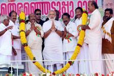 A file photo of Modi campaigning in Kerala before the assembly elections. Photo: PTI