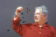 Alexander Calder with a model of one of his mobiles. Photo: Walter Sanders/The LIFE Picture Collection/Getty Images