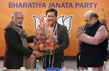 The Bharatiya Janata Party (BJP) is planning a show of strength for the swearing-in ceremony of Sarbananda Sonowal as Assam chief minister. Photo: PTI