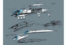 Space X founder Elon Musk's original Hyperloop sketch.