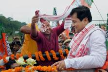 Sarbananda Sonowal, who was earlier in the AGP, is among popular young faces in Assam politics. Photo: PTI
