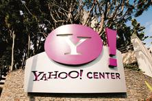 The Yahoo Center office building is seen in Santa Monica, California. Photo: Damian Dovarganes/AP
