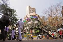 Earlier in the day, Sensex rose as much as 2%, or 517.77 points, to 26,398.94 points, a level last seen on 6 November 2015, while Nifty rose as much as 1.87%, or 148.1 points, to 8,083, a level last tested on 4 November 2015. Photo: Hemant Mishra/Mint