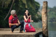 Naseeruddin Shah and Kalki Koechlin in a still from Waiting.