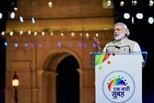 In Modi's speech, there was much criticism of the past government, more than praise for the present. Photo: PTI