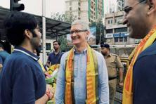 Tim Cook's visit to India is significant given that Apple has consistently ignored India, which is perhaps the only market with the potential to alleviate Apple's growth concerns. Photo: PTI