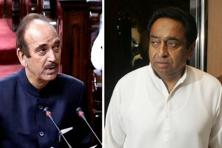 Veteran Congress leaders Ghulam Nabi Azad (left) and Kamal Nath. Photographs by PTI and Bloomberg