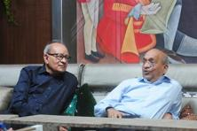 R.S. Goenka (left), co-founder and whole-time director of Emami, and R.S. Agarwal, co-founder and executive chairman of Emami. Photo: Indranil Bhoumik/Mint