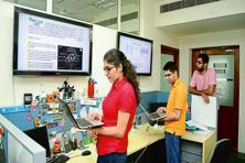 Students at the Indraprastha Institute of Information Technology in New Delhi. Last year, the Infosys Foundation invested <span class='WebRupee'>Rs.</span>15 crore to set up an Infosys Center for Artificial Intelligence at the institute. Photo: Ramesh Pathania/Mint