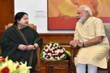 Tamil Nadu CM J. Jayalalithaa pushed for the retrieval of Katchatheevu during her meeting with Prime Minister Narendra Modi on Tuesday. Photo: AFP