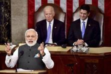 Speaking to the US Congress last week, PM Narendra Modi celebrated the fact that the strategic relationship between the two countries had moved beyond the 'hesitations of history.' Photo: PTI