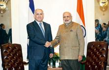 A file photo of Israeli prime minister Benjamin Netanyahu and Indian Prime Minister Narendra Modi.