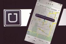 Uber's live car map is an important part of its success. Photo: Bloomberg