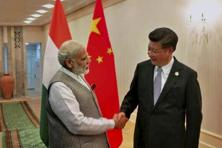 Prime Minister Narendra Modi with Chinese President Xi Jinping during a meeting in Tashkent on Thursday on the sidelines of the SCO summit. Photo: PTI