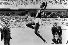 Bob Beamon at the 1968 Olympics in Mexico City. Photo AFP