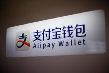 An Alipay logo is seen at a train station in Shanghai, China. Photo: Aly Song/Reuters
