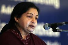 A file photo of Tamil Nadu CM Jayalalithaa who said the unilateral action by Andhra Pradesh authorities on Palar dam had caused great alarm and apprehension. Photo: Mint