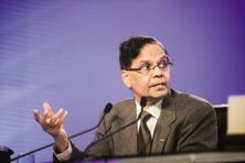 File photo. Arvind Panagariya said the UPA government had expanded social schemes but not taken necessary measures to sustain the high growth over a longer period of time. Photo: Pradeep Gaur/Mint