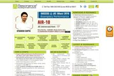 Resonance Eduventures is a Kota-based company that prepares students for admission to engineering and medical colleges.