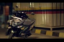 A still from Yamaha's latest campaign featuring rapper Badshah, promoting its recently launched scooter Cygnus Ray-ZR.