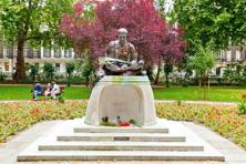 A statue of Gandhi at Tavistock Square in London. Photo: Alamy