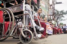 In 2001, of the differently abled population of 2.19 crore, the percentage of literates was 49.3%. Photo: AFP