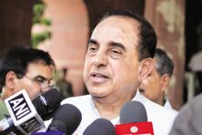A file photo of BJP leader Subramanian Swamy. Photo: Hindustan Times
