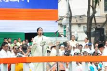 Mamata Banerjee has traditionally used the annual gathering of followers to launch scathing attacks on her political opponents and to rally support by getting defectors to join her party.  Photo: Indranil Bhoumik/Mint