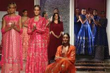 The best garments in Anita Dongre's 'Epic Love' collection seemed like enhanced, beautified extended ideas of what you would find in the Anita Dongre diffusion line.