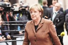 Merkel broke off her vacation to hold her annual summer press conference earlier than planned