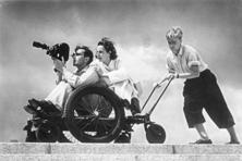 Leni Riefenstahl on the sets of 'Olympia'. Photo: Wikimedia Commons