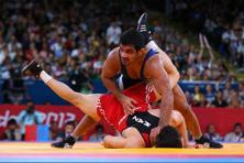 Sushil Kumar during his semi-final at the London Olympics. Photo: Ryan Pierse/Getty Images