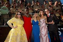 Director Paul Feig poses with cast members (L-R) Melissa McCarthy, Leslie Jones, Kate McKinnon and Kristen Wiig at the premiere of the film 'Ghostbusters' in the US. Photo: Reuters