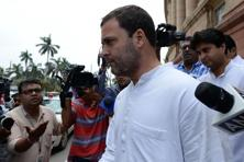 File photo. Congress sources said Rahul Gandhi will hold another round of discussion on the issue after which Sharma will meet finance minister Arun Jaitley to put across the party's point of view. Photo: AFP