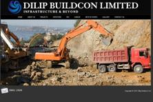 A screen grab of Dilip Buildcon website. At the lower end of the <span class='WebRupee'>Rs.</span>214-219 price band for the issue, the IPO drew bids worth roughly <span class='WebRupee'>Rs.</span>9,562.06 crore.