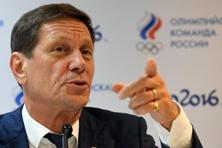 Russia's Olympic Committee (ROC) president Alexander Zhukov gives a press conference in the Russian fans house at the Copacabana beach in Rio de Janeiro ahead of the 2016 Rio Olympic Games. Photo: AFP