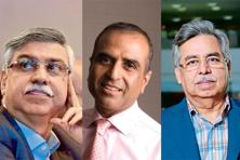 (From left) Sunil Munjal, Sunil Bharti Mittal and Pawan Munjal. Photo: Mint