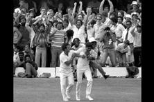 Kapil Dev (centre) during the final of the 1983 World Cup. Cricket didn't so much as invade the other sports as much as it took over parched ground long abandoned. Photo: HT