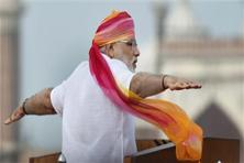 The third Independence Day speech of Prime MInister Narendra Modi on Monday was a study in contrast. Photo: Vijay Verma/PTI