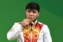Izzat Artykov is the first medallist at these Games to test positive for a banned substance. Photo: AFP