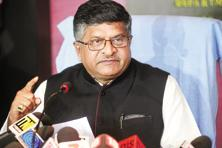 A file image of Union minister for electronics and information technology Ravi Shankar Prasad. Photo: Mint