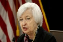 US Federal Reserve Chair Janet Yellen speaks during a news conference in Washington. Photo: Reuters