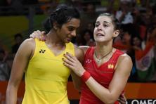 The badminton duel, in which P.V. Sindhu went down fighting to Carolina Marin of Spain to win India's only silver medal, generated 17.3 million impressions across five TV channels, according to television ratings agency Broadcast Audience Research Council (BARC) India. Photo: PTI