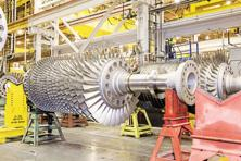 GE's gas turbines can be brought to market in half the usual five years via design and production tweaks made possible by digital tech. Photo: Jeremy M. Lange/The New York Times