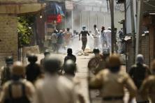 A file photo of a protest in Kashmir valley. Photo: AP