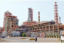 A file photo of workers walking inside the complex of the Vadinar refinery in Gujarat. Photo: Reuters.