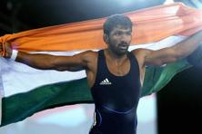File photo. Yogeshwer Dutt had bagged a bronze medal in men's 60kg freestyle category in London Games. Photo: PTI