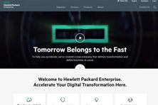 A screen grab of Hewlett-Packard Enterprise website