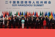 World leaders at a photo call during the G-20 summit in Hangzhou, China, on 4 September. Photo: Reuters